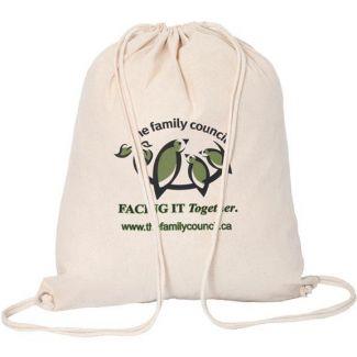 Custom Drawstring Bags - Cotton Drawstring Bag | rushIMPRINT.ca ...
