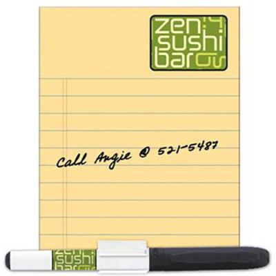 Dry Erase Magnet 4 x 5.25 with marker/clip