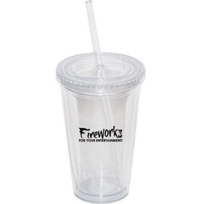 17 oz. Double Walled Tumbler with Straw