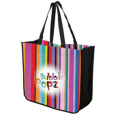 Large Multi‑Stripe Recycled Tote