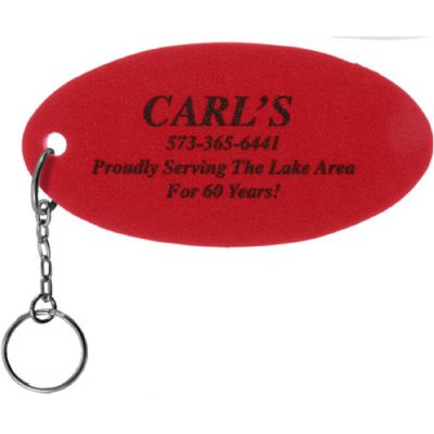 Promotional Oval Small Foam Floating Key Tag in Canada