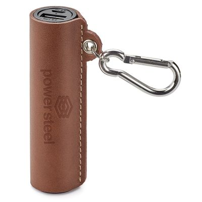Nathan Genuine Leather 2,200 Mah Ul Certified Power Bank