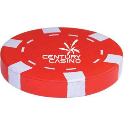 Casino Chip ‑ Red Stress Ball