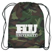Camoflauge Nylon Drawstring Backpack