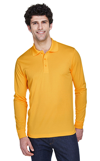 Pinnacle Core 365 Men's Performance Long Sleeve Pique Polos