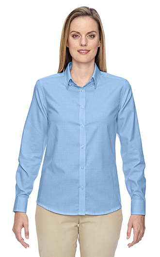 Ladies' Wrinkle Resistant Twill Checkered Shirt