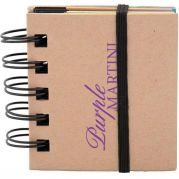 Spiral Sticky 250 Sheet Notepad With Noteflags