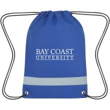 Lil' Bit Reflective Non-Woven Drawstring Bag