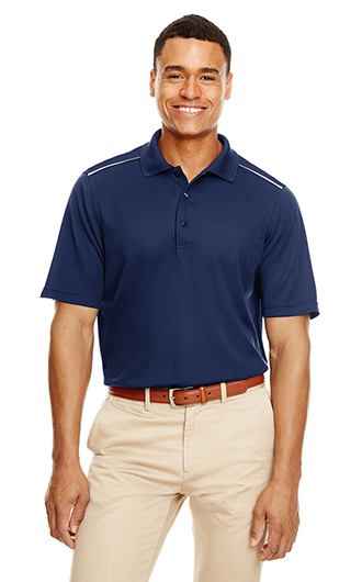 Core 365 Men's Radiant Performance Pique Polo with Reflec