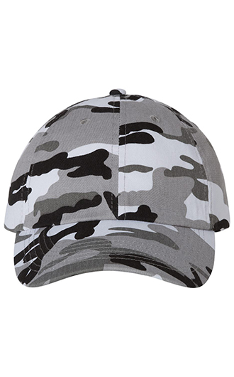 Valucap - Adult Bio-Washed Classic Dad's Cap (Camo)